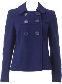Dorothy Perkins Blue Double Breasted Coat
